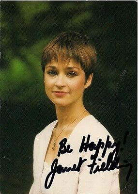 JANET FIELDING DR WHO TEGAN SIGNED AUTOGRAPH 6x4 PRE PRINTED PHOTO POSTCARD SIZE
