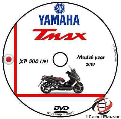 Manuale Officina Yamaha Tmax Xp500(N) My 2001 Workshop Manual Service Dvd