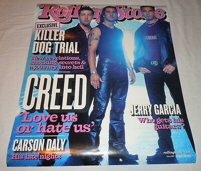 CREED~Rolling Stone Poster~Promo Poster~2002~18x22~NM Condition