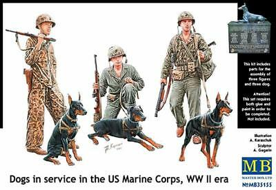 MASTER BOX MB35155 Dogs in Service in the US Marine Corps 1:35