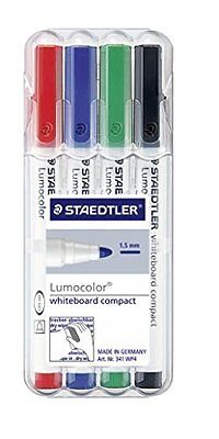 Staedtler 341 WP4 Compact Dry Wipe Marker Assorted Wallet with Pens - Wallet of