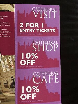 2 For 1 Voucher - Exeter Cathedral - Valid Till 28/02/2017