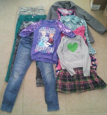 12 Piece Lot of Girl Clothes Size 10/12