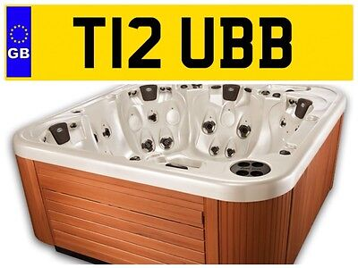 T12 Ubb Hot Tub Spa Jacuzzi Hottub Company Van Lorry Private Number Plate Water