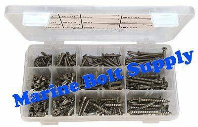316 Stainless Steel Phillips Oval Head #14 Sheet Metal Screws Select Size