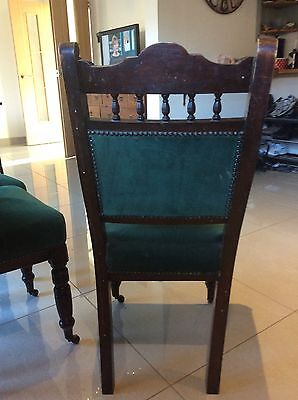 Set Of 4 Antique Mahogany Dining/ Saloon Chairs Late Victorian Circa 1870-1900