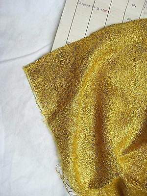 Piece Antique French Lame Fabric Gold Metallic Flapper