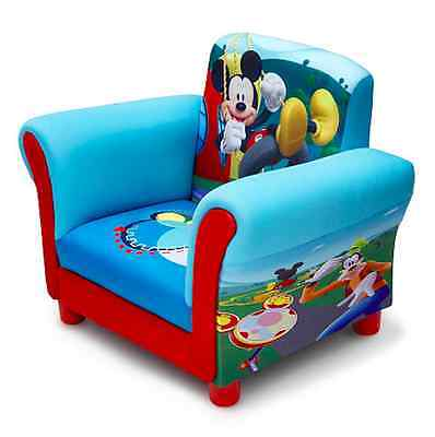 Disney Mickey Mouse With Goofy Donald Duck And Pluto Upholstered Kids Chair