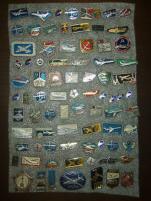 79  Pin Badges USSR (Russia) Planes aircraft  different № 15