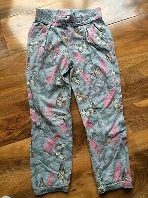 Girls Grey GAP Butterfly Patterned Trousers 5 Years