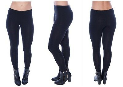 Women Basic Solid Legging Stretch Pants Long Full Ankle Length Plus Small - 3X