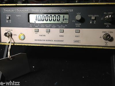 Thurlby Thandar TTI TF830 1.3GHz Universal Counter Reciprocal Counting