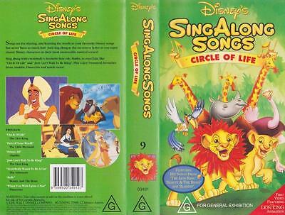 Sing Along Songs Circle Of Life 9  Disney Vhs Pal Video A Rare Find