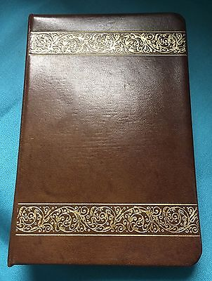 "Unused 1940's ""Top Grain Cowhide"" Gold Embossed Leather Address Book"