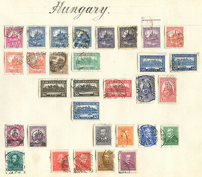 Hungary - Early mixed lot of 61 mint & used stamps as illustrated FREE UK POST