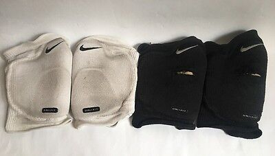 Nike Dri-Fit Knee Pads x 2 White & Black Pair Pre-owned Volleyball Men's M