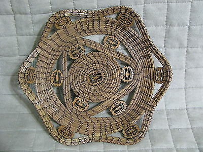 Handcrafted Nuts Galore Pine Needle Basket