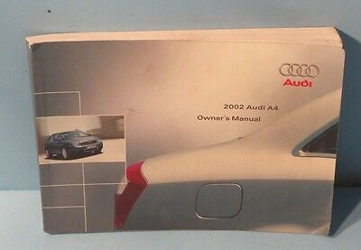 02 2002 Audi A4 owners manual