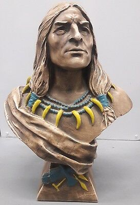 """Indian Chief Bust MINT Condition Bailey Co Circa 1900 Cigar Chalkware 18"""""""
