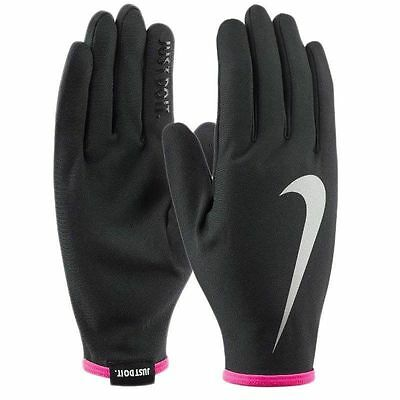 Nwt Womens Rival Lightweight Reflective Running Walking Gloves Black Pink Md $20