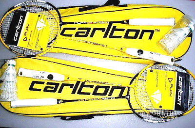 January Sale Offer !!! Lot Of 2 New Carlton 2 Player Badminton Set 4 Rackets