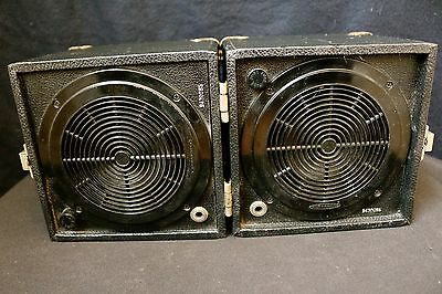 Pair of Auratone 5C Super Sound Cube Studio Reference Monitor Speakers Vintage