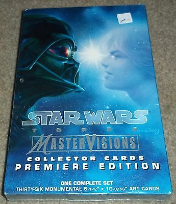 Topps Star Wars MasterVisions Collector Card Premiere Edition factory sealed box