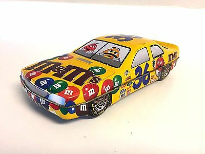 NASCAR M&M's #36 Collectible Tin Can Race Car Good Year Tires Vintage Automobile