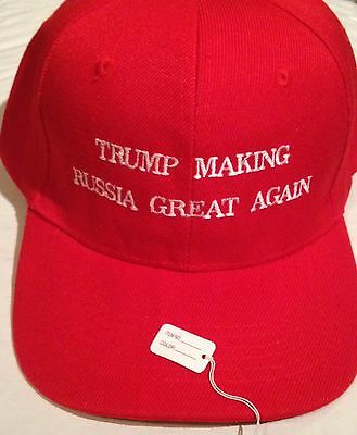 TRUMP MAKING RUSSIA GREAT AGAIN President Donald Trump 2016 Red HAT EMBROIDERED