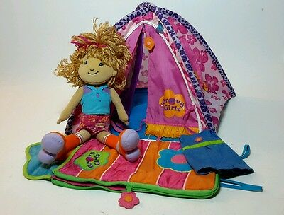 GROOVY GIRLS LOT - DANIKA &  TERRIFIC TENT w/ SLEEPING BAG &  EXTRA OUTFIT