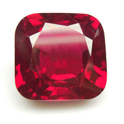 47.10Ct Exclusive Huge Square Cushion 20X20Mm Pigeon Blood Red Corundum Ruby Lab