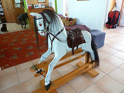 Wooden rocking horse in immaculate condition