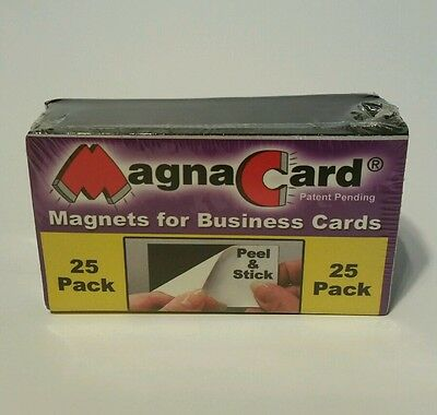 MagnaCard Business Card Magnets - Peel & Stick - Package of 25