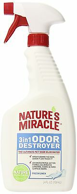 Nature's Miracle 3-in-1 Odor Destroyer Fresh Linen Scent Trigger Spray