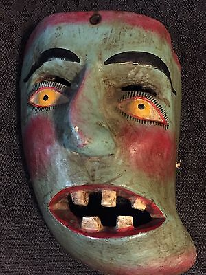 """Mexican """"day Of The Dead"""" Mask Vintage Pre-1940?"""