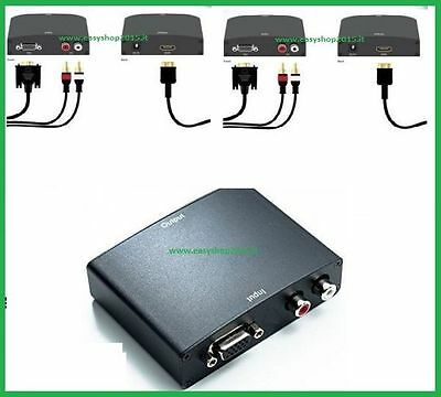 Convertitore Da Analogico Vga Audio R/l A Hdmi Tv Monitor Pc Video Converter