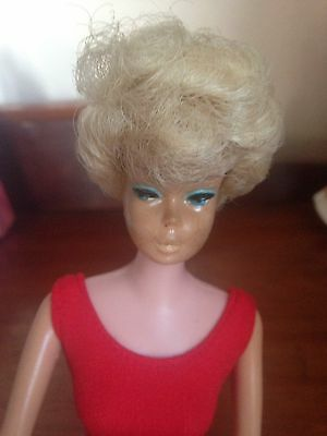 Blonde 1960s Bubblecut Barbie & Red Bathers & American Girl Red Shoes ��