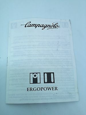 Campagnolo Ergopower Brakes User Instruction Manual