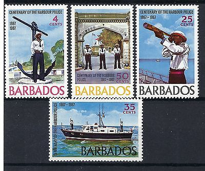 Barbados 1967 SG 363-6 4c-50c MNH Centenary of Harbour Police POST FREE UK.