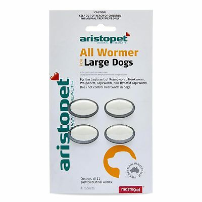 Aristopet All Wormer Large Dog 4 Pack Worming Treatment
