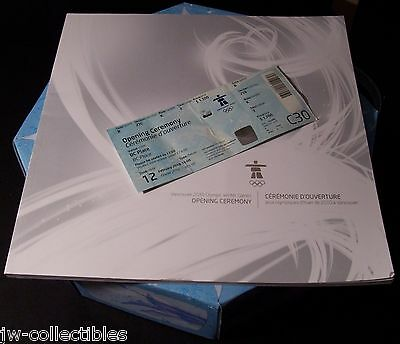 2010 Vancouver Olympic Opening Ceremonies TKT/Program/Audience Participation Kit