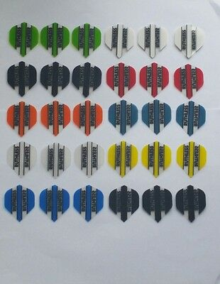 Bulk Pack of 30 Ruthless Extra Strong Dart Flights Mixed Colours