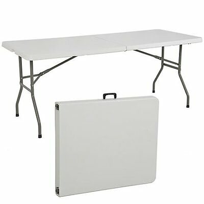 Folding Table 6' Portable Plastic Indoor Outdoor Picnic Party Camp Tables