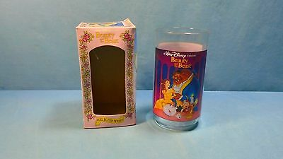 1994 Vintage Burger King Beauty and the Beast Collectible Plastic Glass Coke