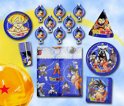 DRAGONBALL SUPER Birthday Party Set Supplies Tableware Cake Plates Tablecover