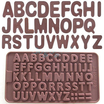NEW Letter Alphabet Silicone Cake Mould Chocolate Fondant Cookies Ice Mold 384H