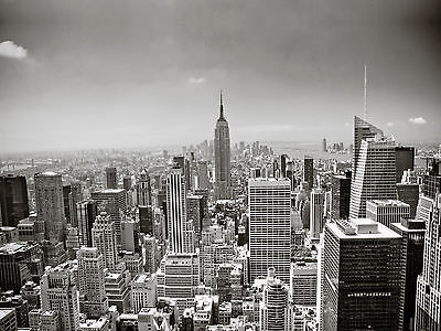 New York Black & White Giant Wall Art Poster A0 A1 A2