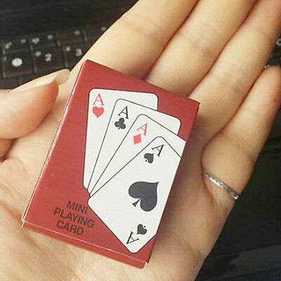 Portable Foil Plated Mini Poker Playing Cards Traditional Set