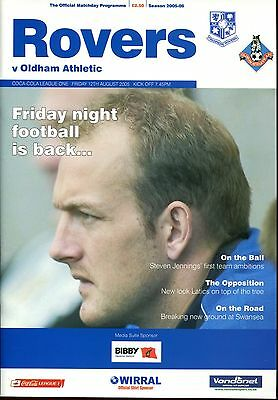 Tranmere Rovers v Oldham Athletic 12.08.05 League 1