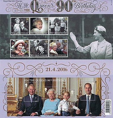 2016 HM The Queen's 90th Birthday Stamps in Presentation Pack - NEW - UK
